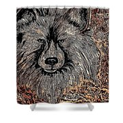 The Silver Wolf 2 Shower Curtain
