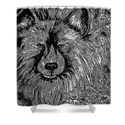 The Silver Wolf Shower Curtain