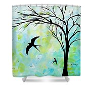 The Simple Life By Madart Shower Curtain