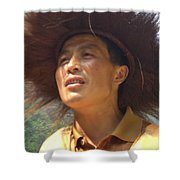 The Singing Boatman Shower Curtain