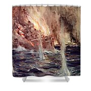 The Sinking Of The Gneisenau Shower Curtain
