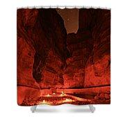 The Siq -- Petra Shower Curtain