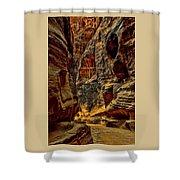 The Siq Path Slot Canyon  Shower Curtain