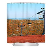 The Skiing Fields In Autumn Shower Curtain