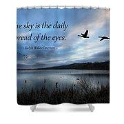 The Sky Shower Curtain by Lori Deiter