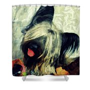 The Skye  Terrier Tilt   Shower Curtain