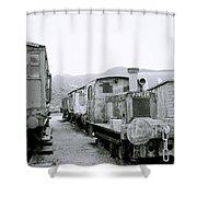 The Steam Train Shower Curtain