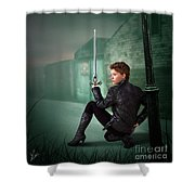 The Slayer Of The Dock Shower Curtain
