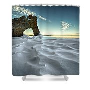 The Sleeping Giants Sea Lion Shower Curtain