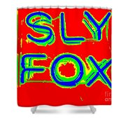 The Sly Fox Shower Curtain