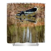 The Small Boat Photoart II Shower Curtain
