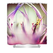The Small Visitor Shower Curtain by Hannes Cmarits