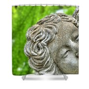 The Smiling Angel Buffalo Botanical Gardens Series Shower Curtain