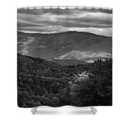 The Smokies In Black And White Shower Curtain