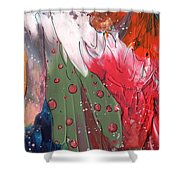 The Smoking Woman Shower Curtain