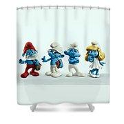 The Smurfs Movie Shower Curtain