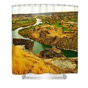The Snake River  Shower Curtain