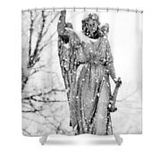 The Snow Angel Shower Curtain