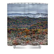 The Snow Began To Fall Shower Curtain