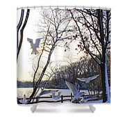 The  Birds Of Winter Shower Curtain