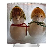 The Snowdens Are Engaged Shower Curtain
