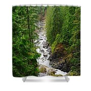 The Snowqualmie River Shower Curtain