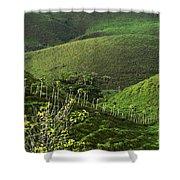 The Soft Hills Of Caizan Shower Curtain