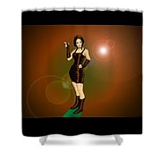 The Solar Fan Shower Curtain