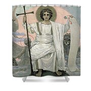 The Son Of God   The Word Of God Shower Curtain by Victor Mikhailovich Vasnetsov