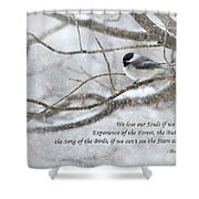 The Song Of The Birds Shower Curtain