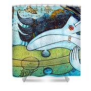 The Song Of The Mermaid Shower Curtain