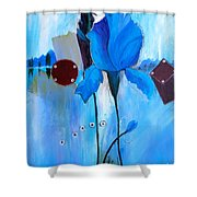 The Sound Of Blue Shower Curtain