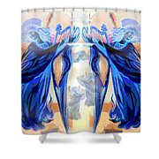 The Sounds Of Angels Shower Curtain