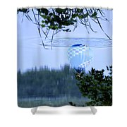 The Source Of Lake Ripples 01 Shower Curtain