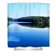 The Source Of Lake Ripples 02 Shower Curtain