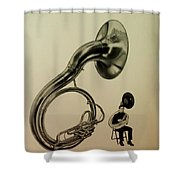 The Sousaphone Shower Curtain