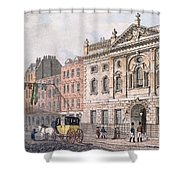 The South Front Of Ironmongers Hall, From R. Ackermanns Repository Of Arts 1811 Colour Litho Shower Curtain