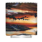 The Southern Marsh Shower Curtain