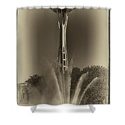 The Space Needle - Back In Time Shower Curtain