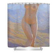 The Space Of The Morning Mountains  Shower Curtain