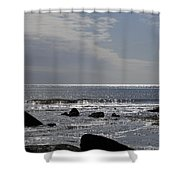 The Sparkling Sea Shower Curtain