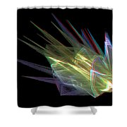 The Speed Of Light - Use Red/cyan Filtered 3d Glasses Shower Curtain