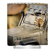 The Spider Series IIi Shower Curtain