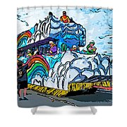 The Spirit Of Mardi Gras Shower Curtain