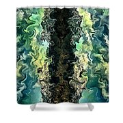 The Split By Rafi Talby Shower Curtain