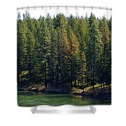 The Spokane River On Easter Sunday 2014 Shower Curtain