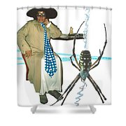 The Spotted Widow Shower Curtain