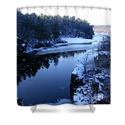 The St. Croix River In December Shower Curtain