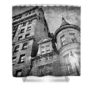 The Stafford Hotel - Grayscale Shower Curtain