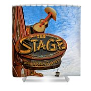 The Stage On Broadway Shower Curtain by Dan Sproul